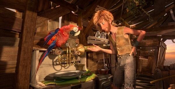 Робинзон Крузо и попугай Вторник