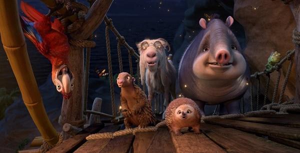 животные с необитаемого острова из мультфильма про Робинзона Крузо